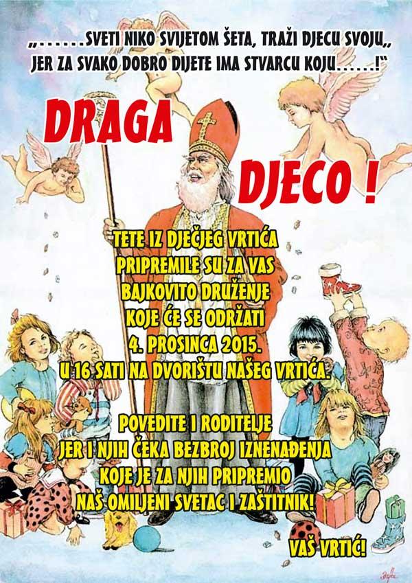 Sv. Nikola u vrtiću Ivančice Ivanec